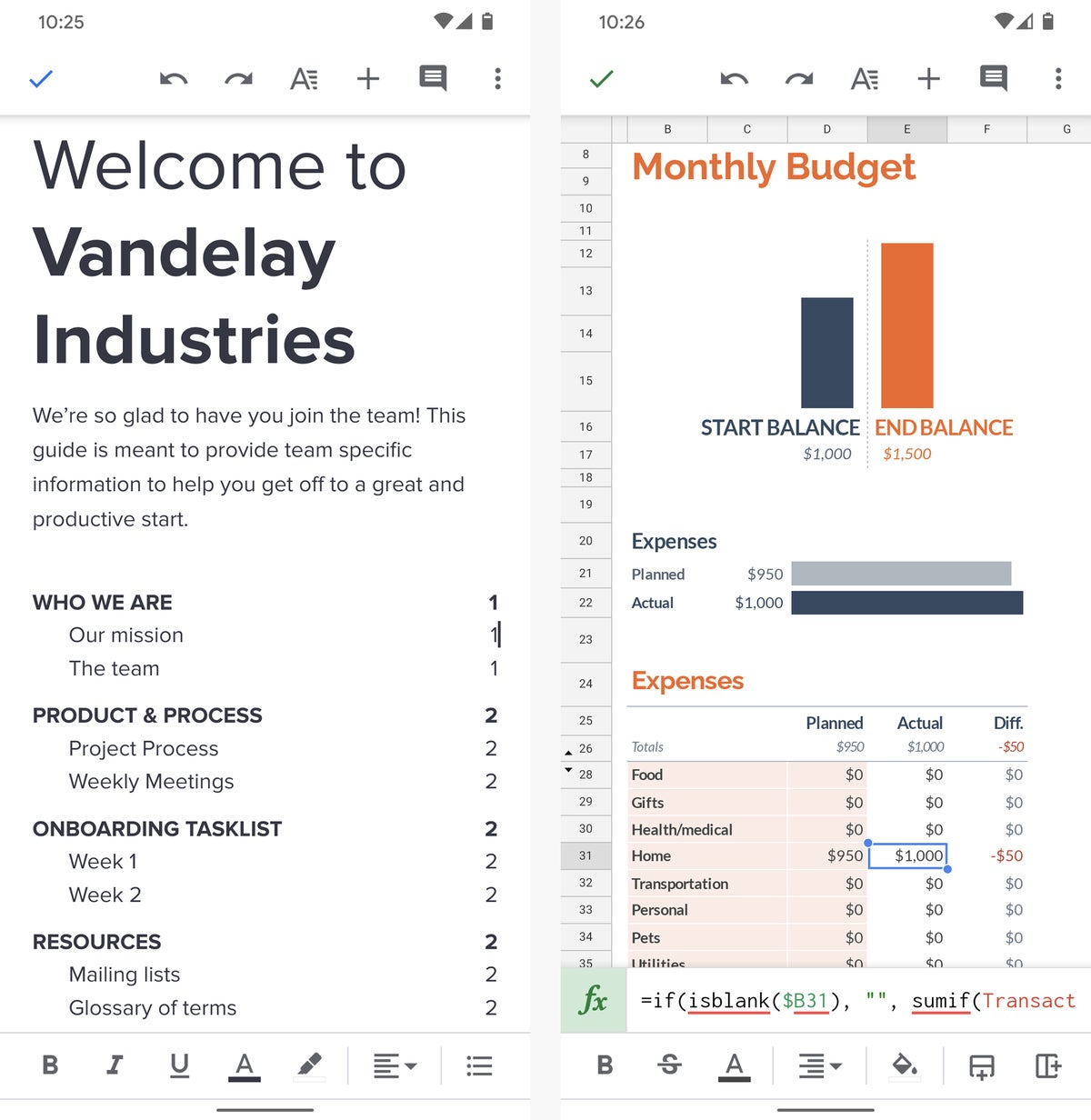 best android office apps 03 google docs sheets