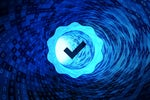 Check mark certificate in a binary tunnel / standards / quality control / certification / certifi