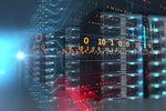 datacenter / server room / servers / data streams