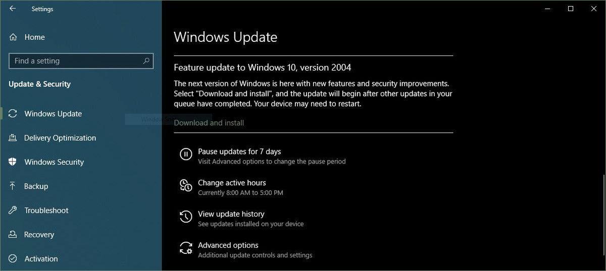 Descarga e instalación de Windows 2004