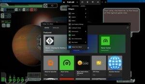 Microsoft xbox game bar  ftl widget menu