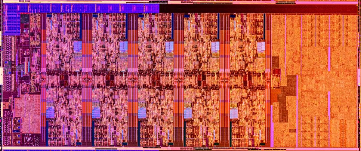 Intel 10-core Comet Lake S die shot