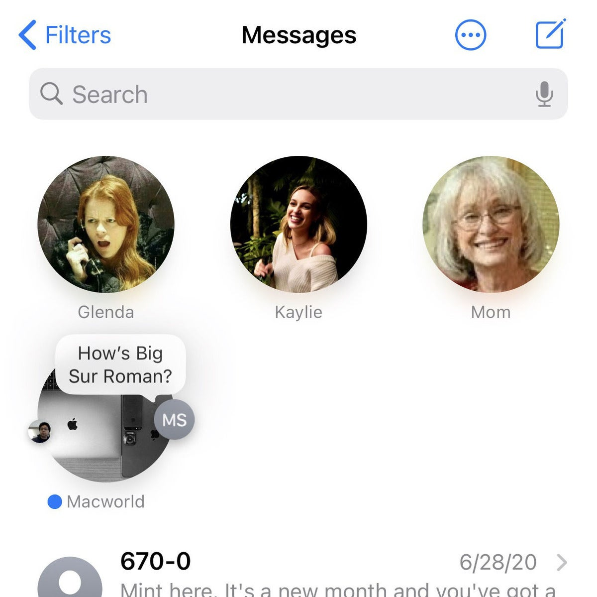 ios14 messages group