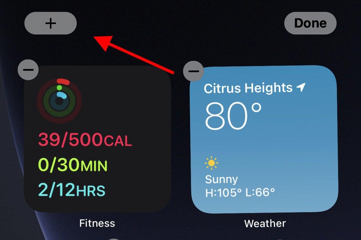 ios14 widgets wiggle add