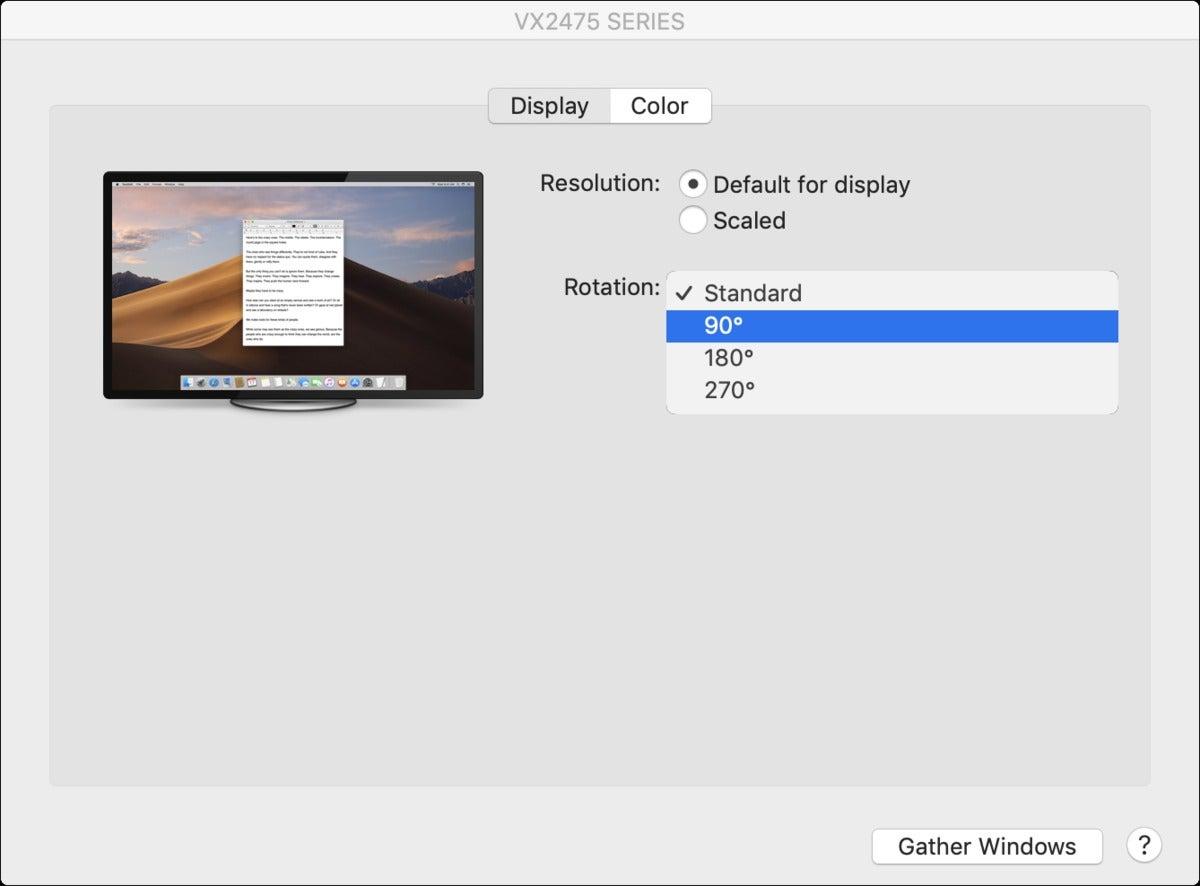 mac911 rotate display