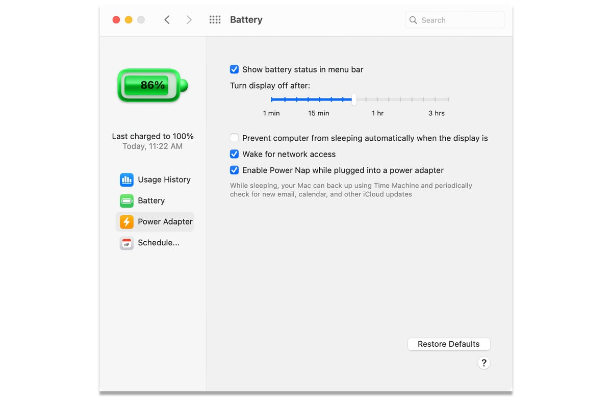 macos 11 big sur power adapter battery sys pref