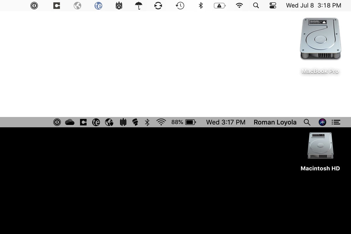 macos big sur catalina menu bar icons