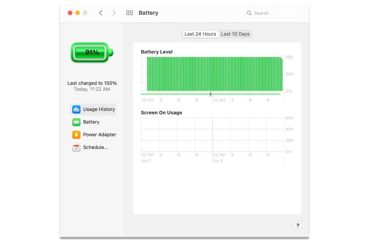 macos big sur usage battery system preference