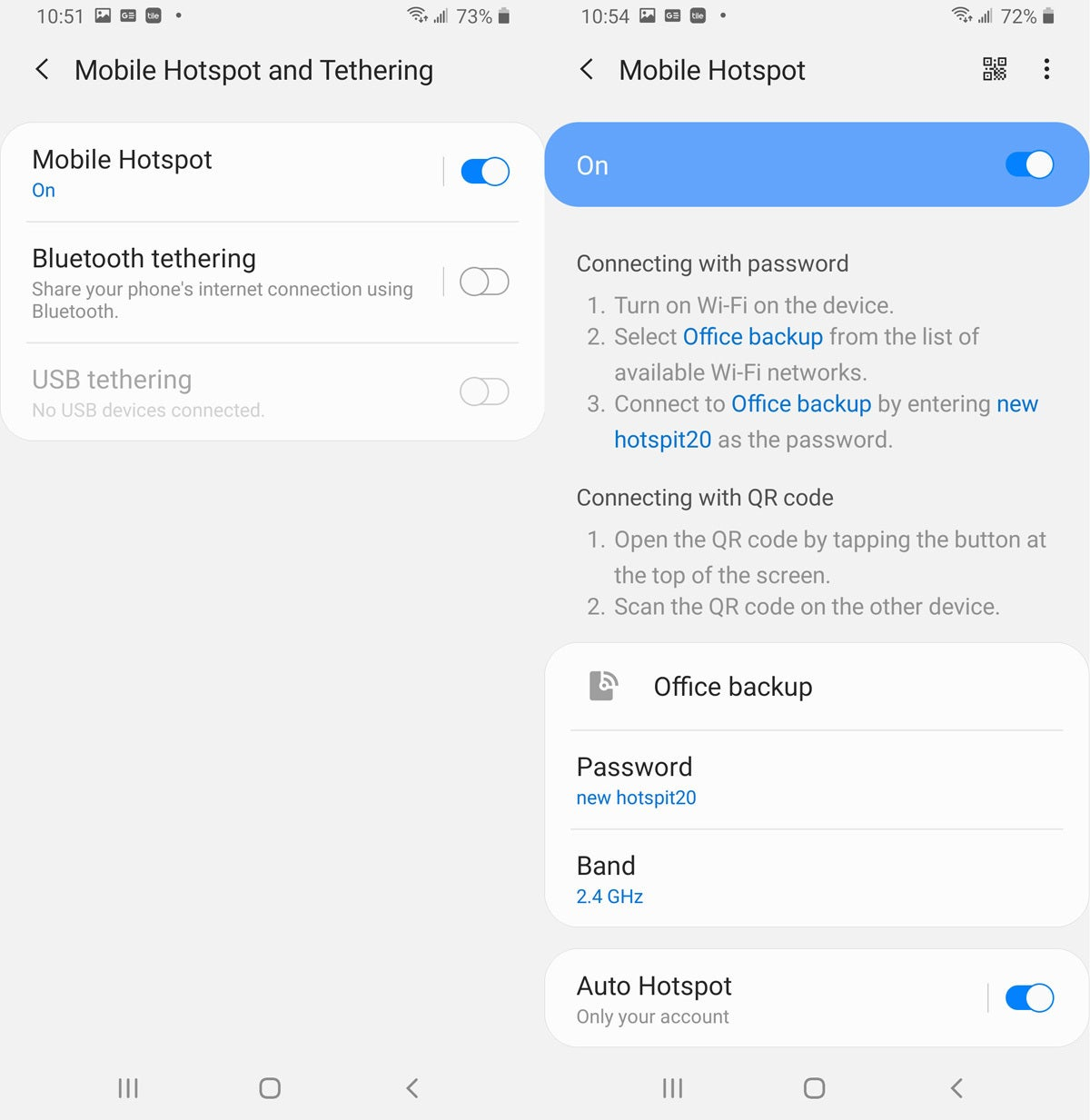 How to use a smartphone as a mobile hotspot
