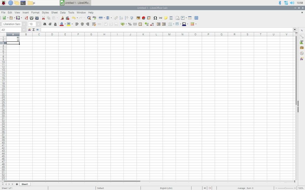 LibreOffice on Raspberry Pi OS