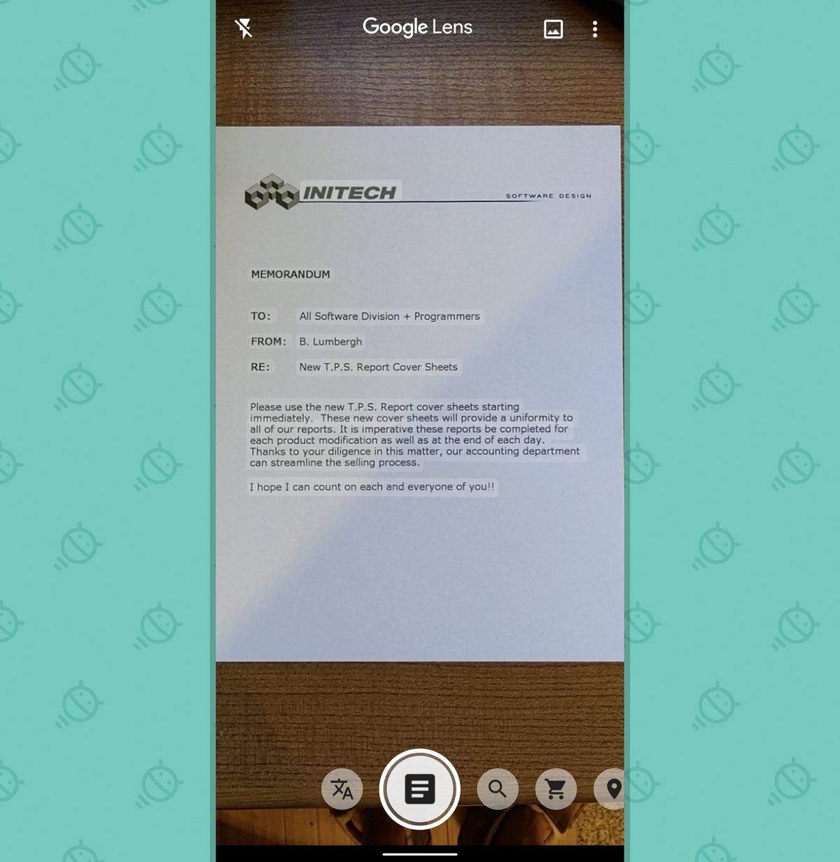 Aplicación Google Lens: copiar texto