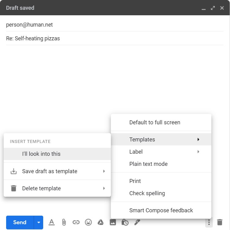 02 gmail templates built in insert