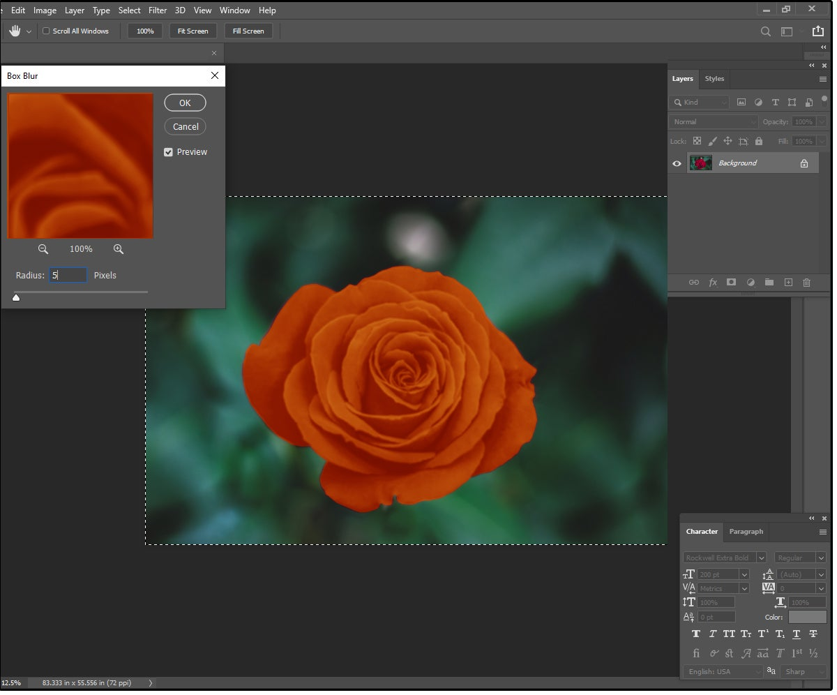 03 use photoshops box blur to create a soft silky effect with glowing edges
