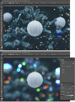 07 bokeh affects the quality of reflected light in the shallow depth of field