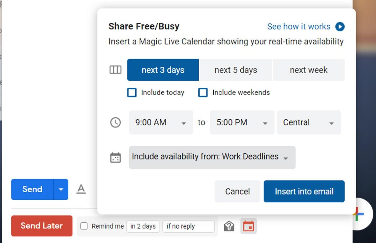 Programación del calendario de Gmail (1)