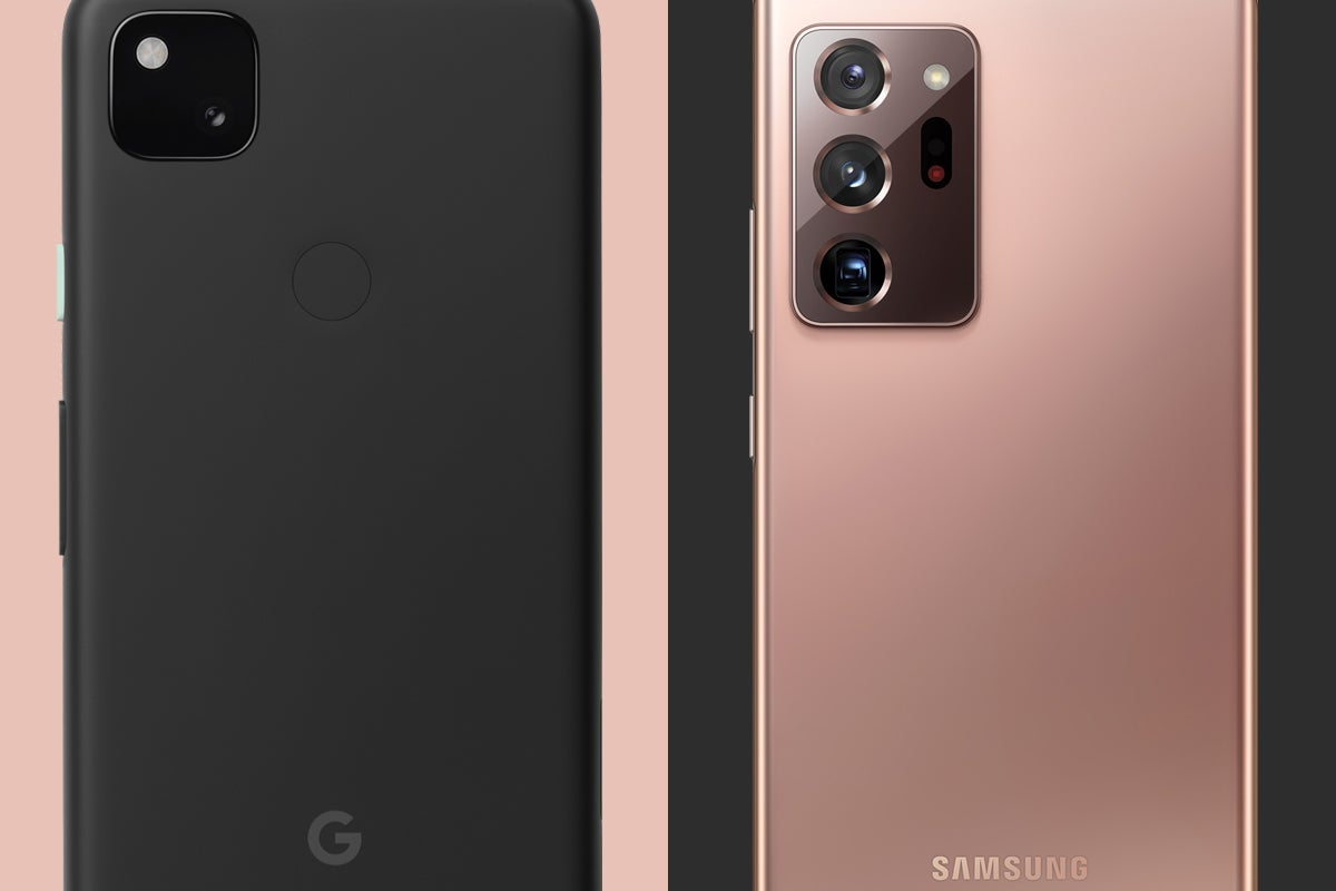 The perfect contrast of the Pixel 4a and the Galaxy Note 20