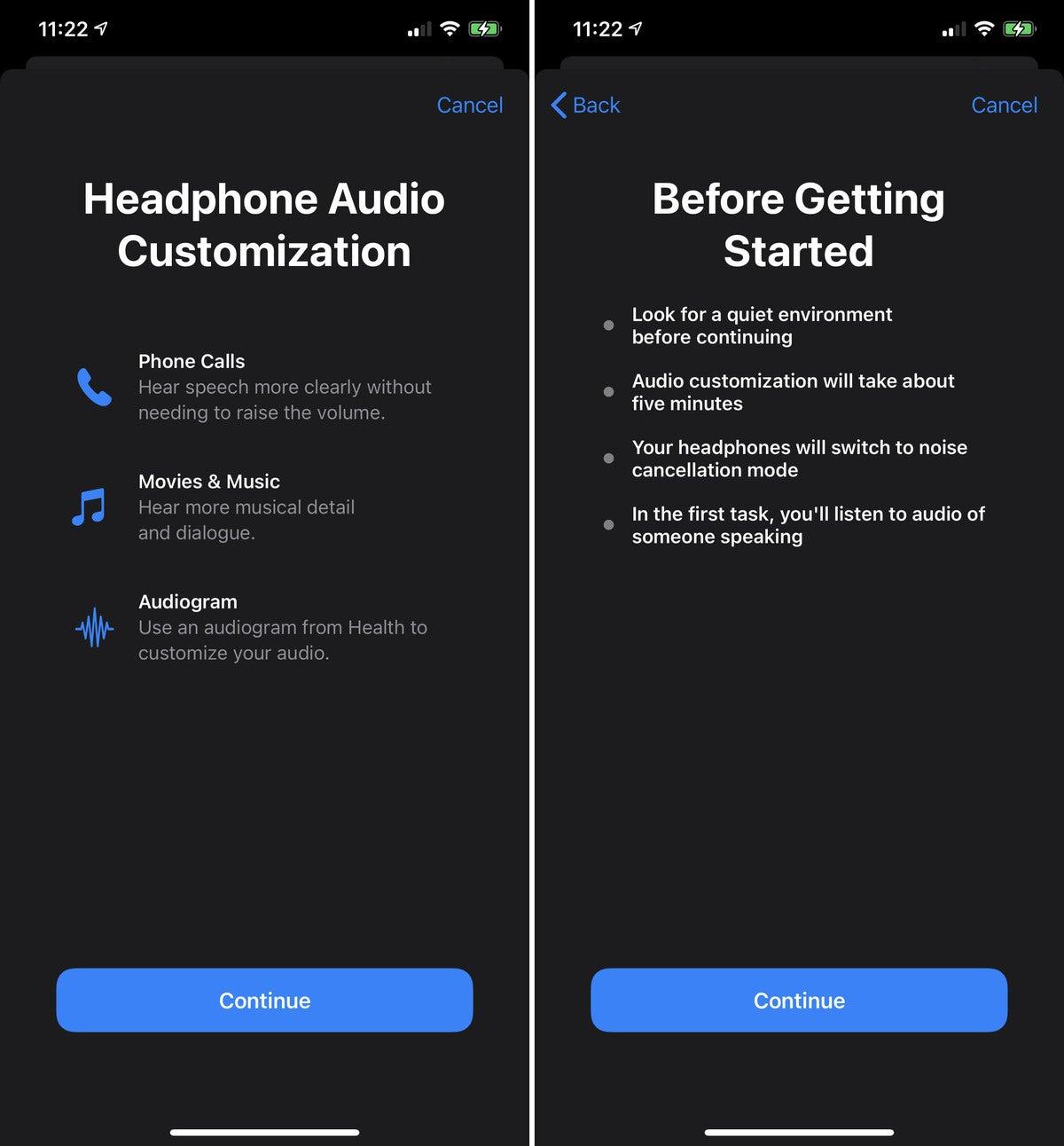 ios14 headphone accommodations