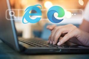 Microsoft Internet Explorer 11 / IE11 / Microsoft Edge / browser search bar / laptop user