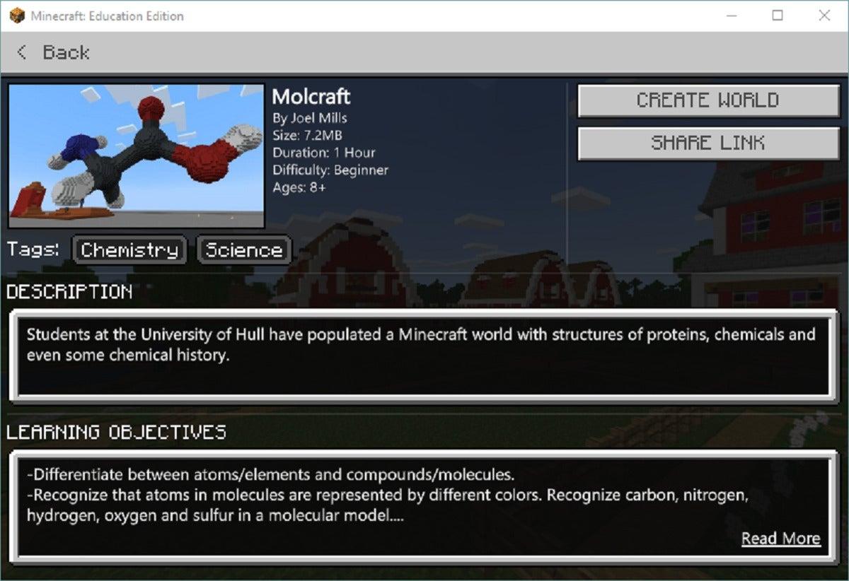 minecraft education edition lesson