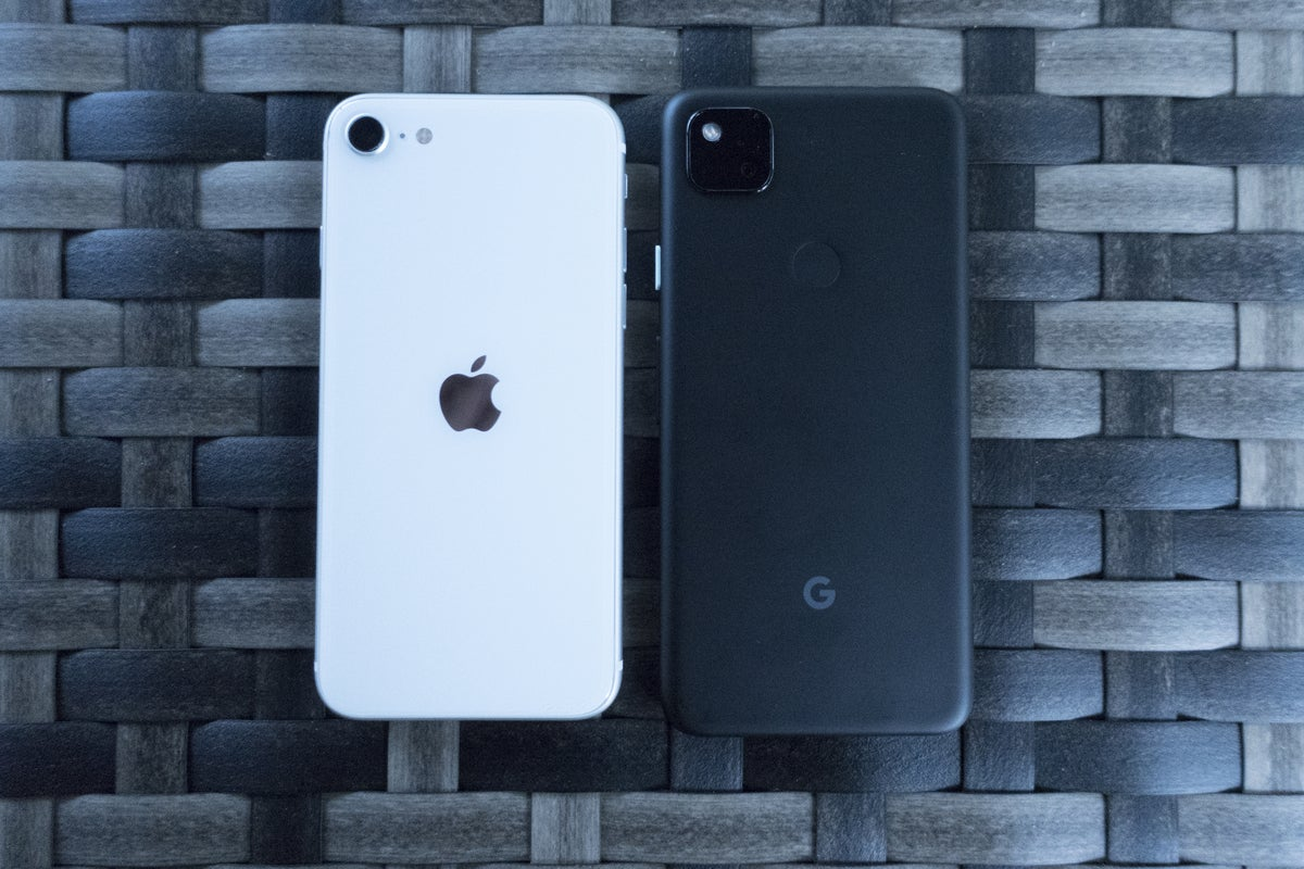 pixel 4a iphone se back