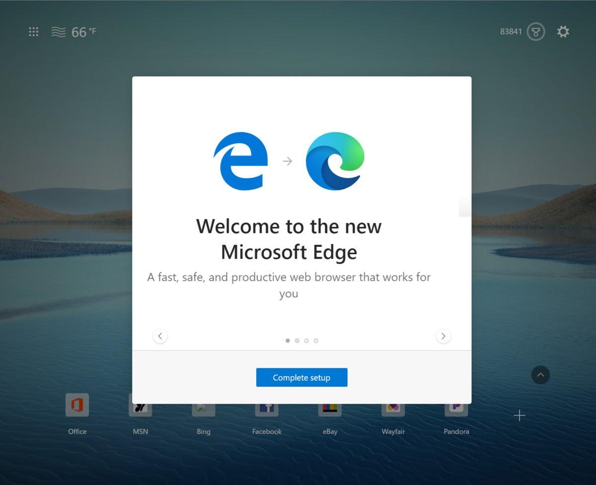20h2 नया एज इंट्रो स्क्रीन विंडोज़ 10 माइक्रोसॉफ़्ट