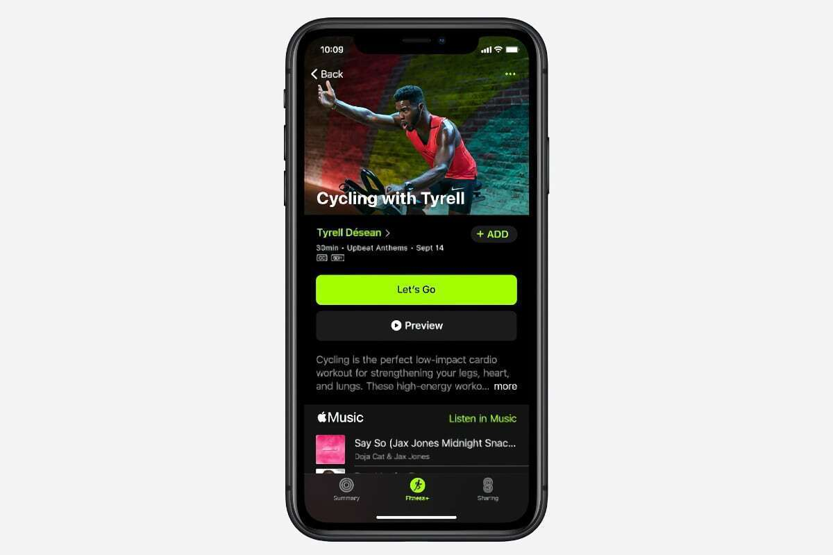 apple fitness cycling video