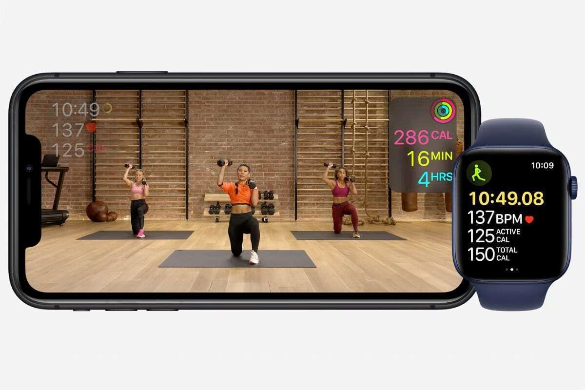 apple fitness data display