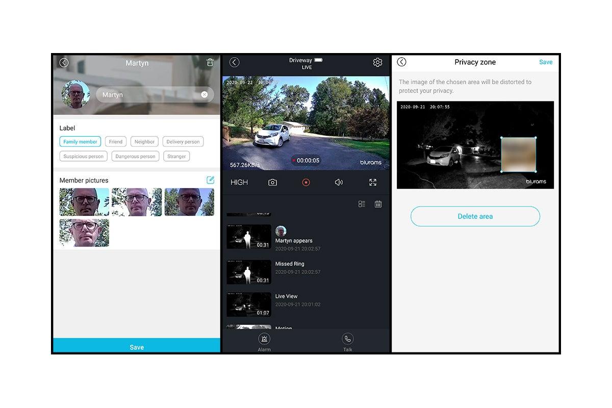 blurams smart doorbell app views