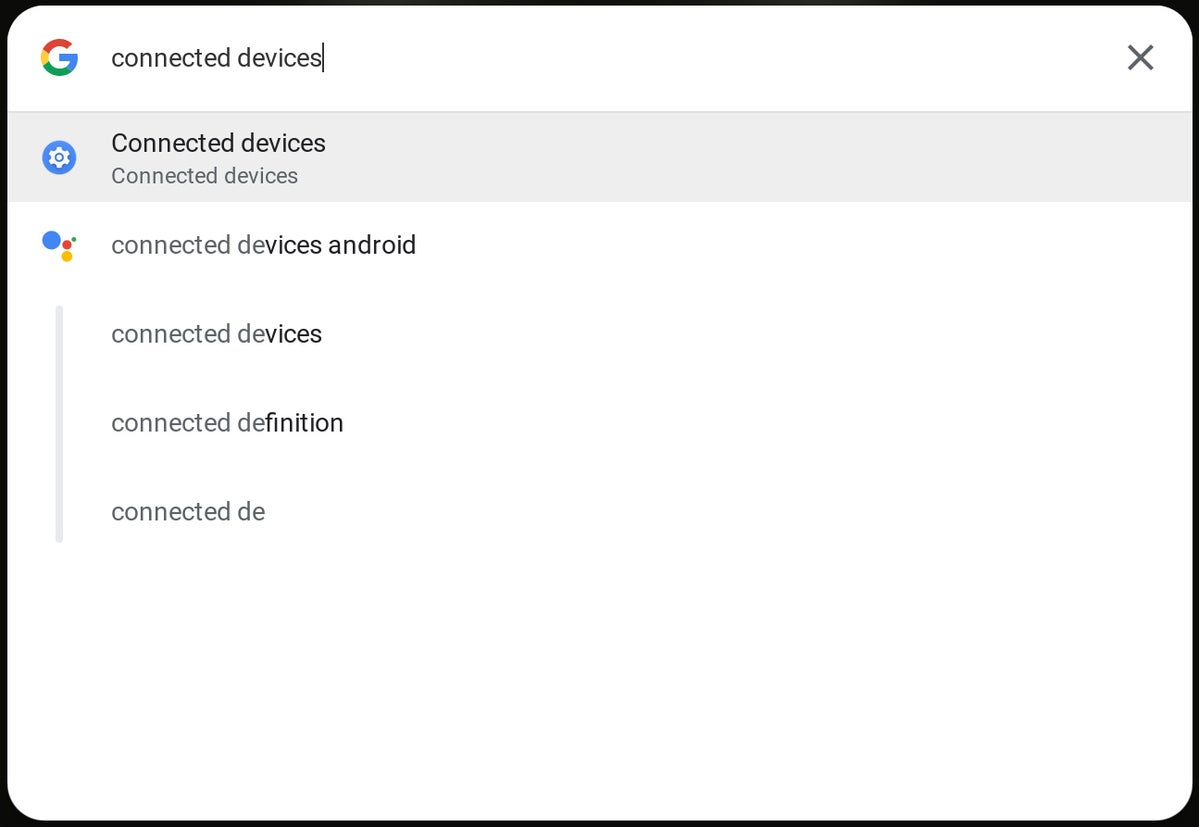 Chrome OS Assistant: Settings