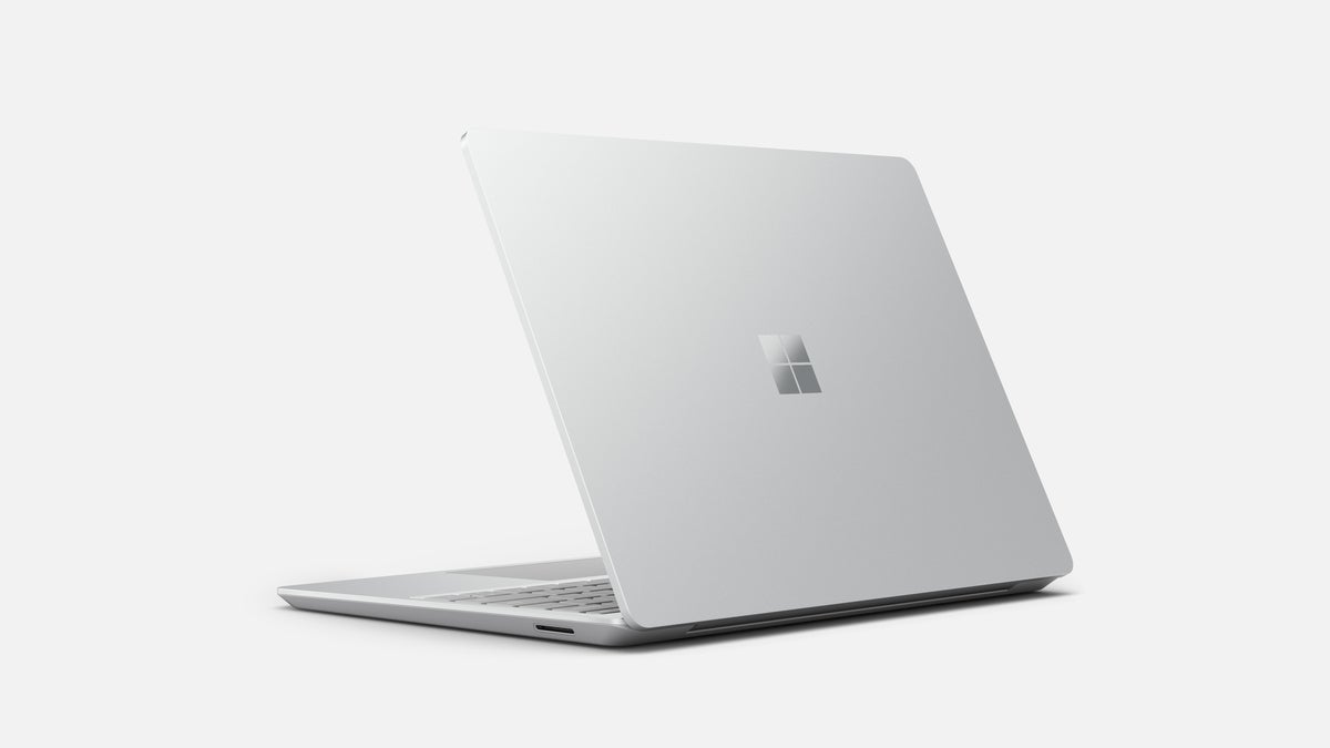 Microsoft Surface Laptop Go platinum rear