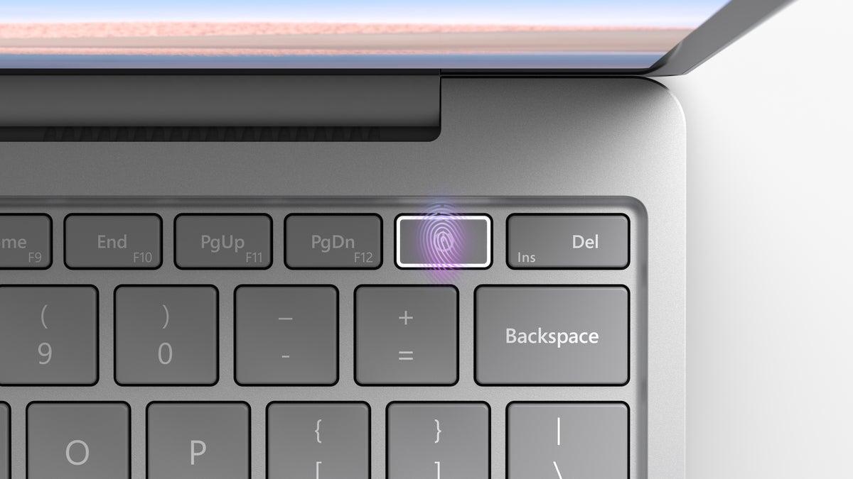 Microsoft Surface Laptop Go fingerprint reader