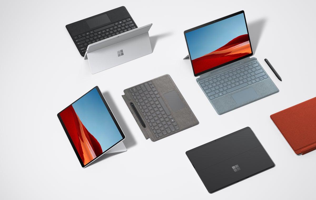 Microsoft Surface Pro X lineup