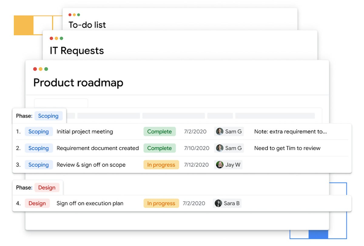 Google takes on Airtable, Microsoft Lists with Tables work-tracking app