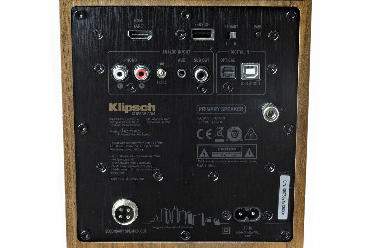 klipsch the fives connections