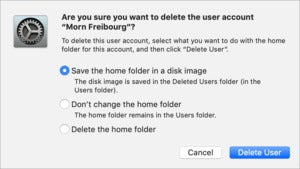 mac911 delete account macos save as disk image