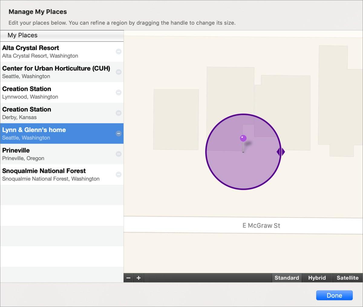 mac911 iphoto change location name
