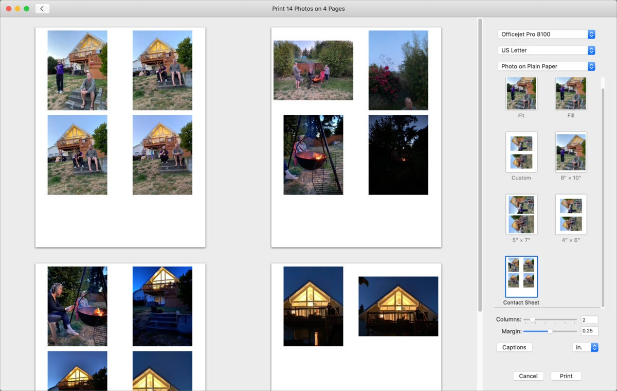 mac911 print photos contact sheet