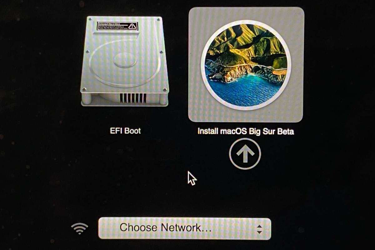 macos big sur selects boot station