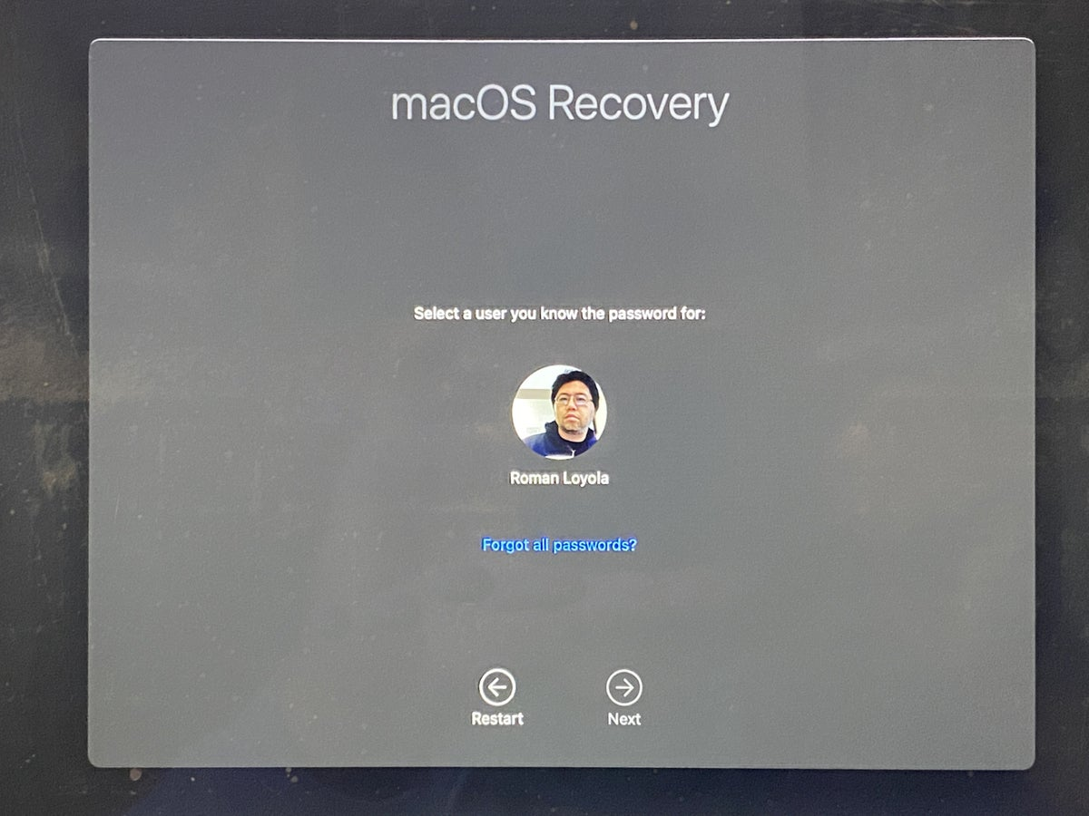 macos recovery great sour user