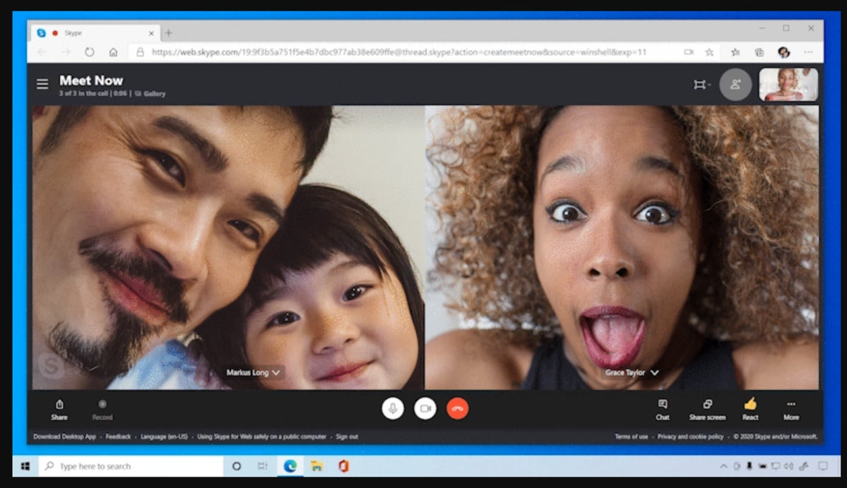 Windows 10 Skype meet now multiple people