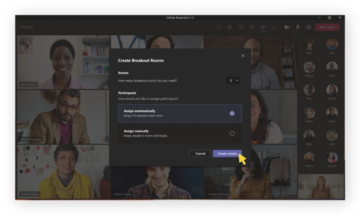 microsoft teams breakout rooms create