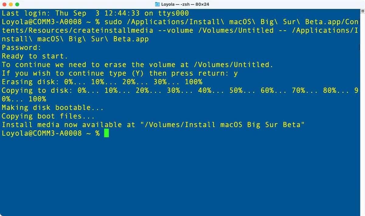 mocos big sur lage boot drive terminal 03