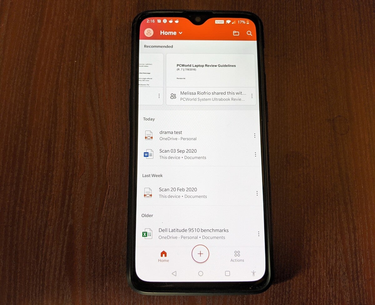 Microsoft Office App for AndroidF