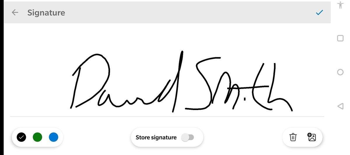 office mobile app signature