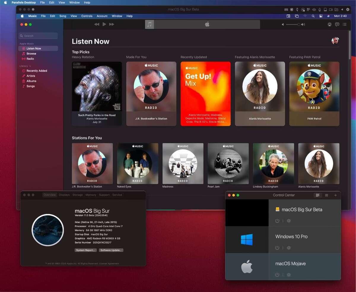 parallels desktop 16 big sur guest on big sur host