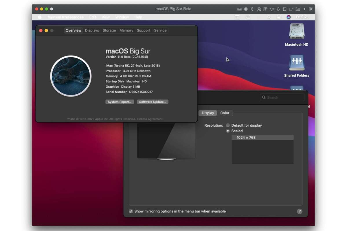 parallels desktop 16 big sur guest on catalina host