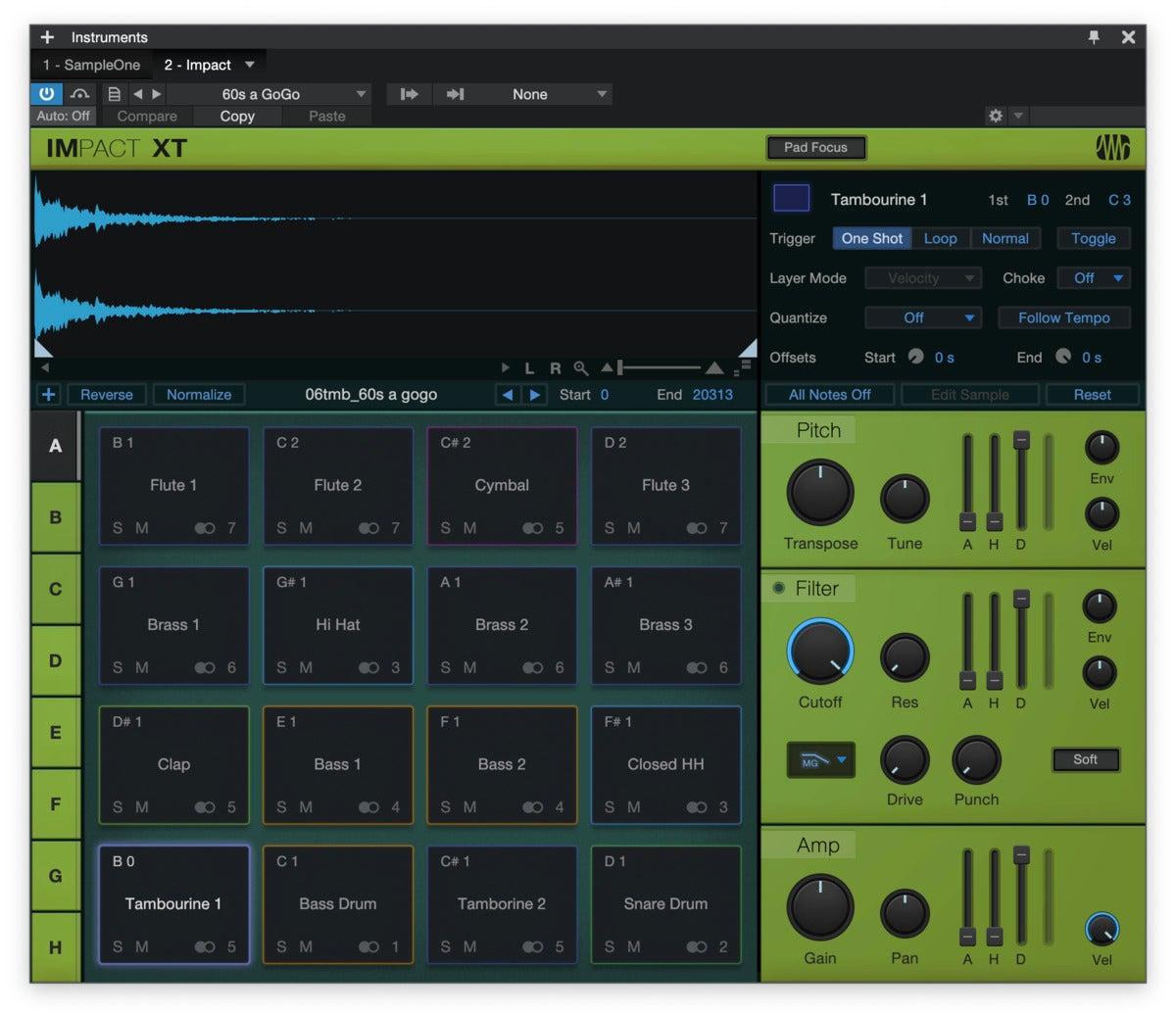 studio one 5 impact drum machine