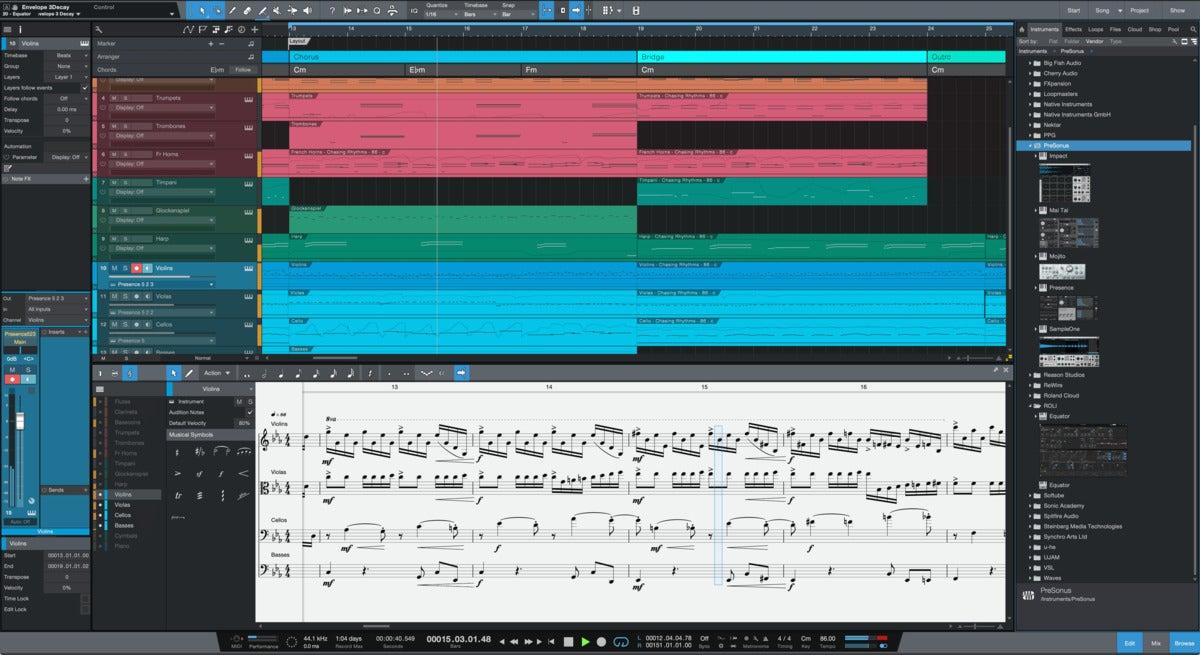 studio one score view