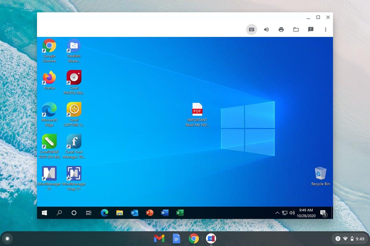 Sistema operativo Chrome: escritorio de Windows