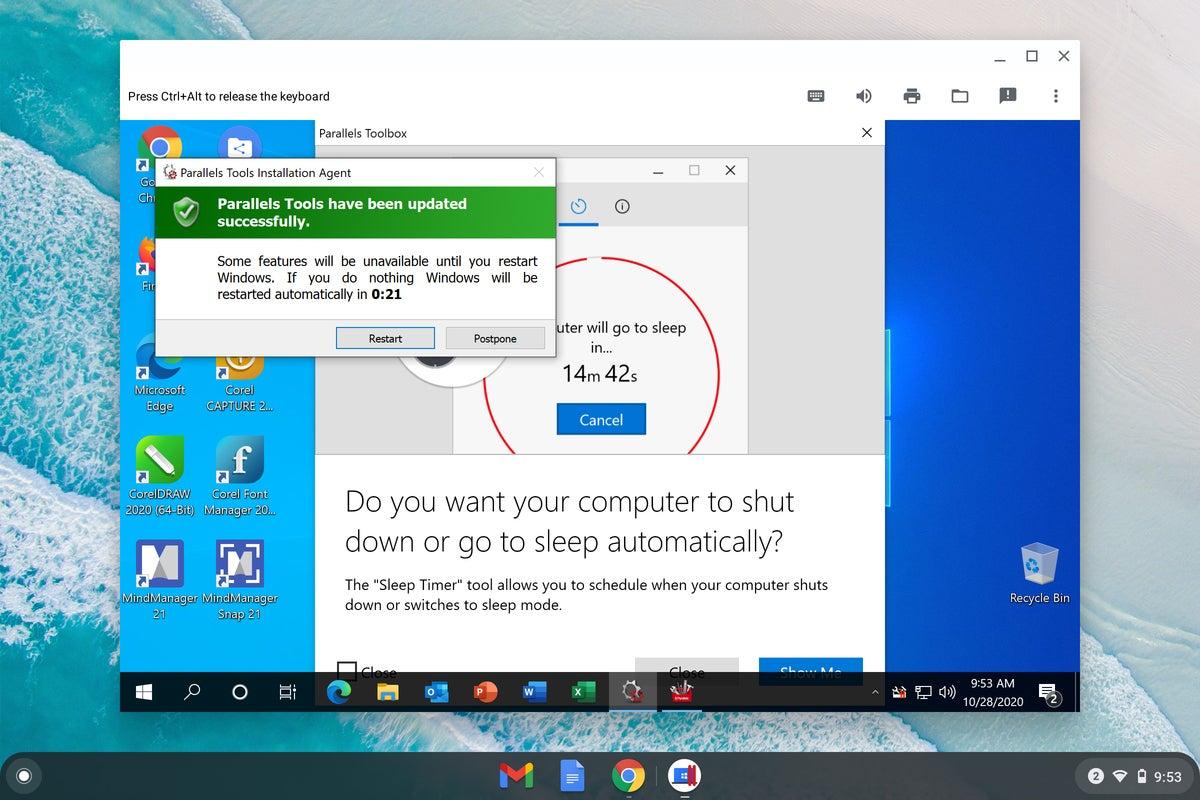Chrome OS - Windows restart